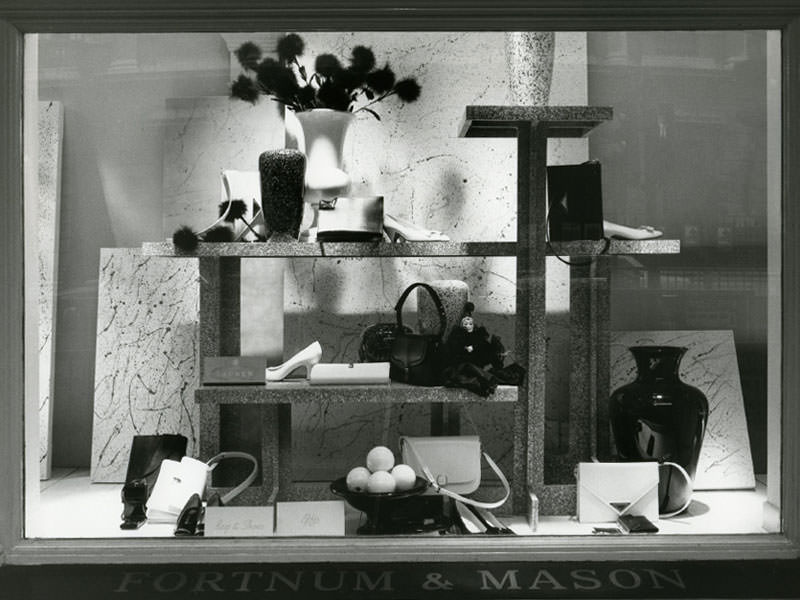 ee36f8c79a WINDOW DISPLAY OF FORTNUM AND MASON. Launer began to supply the leading  stores in London.